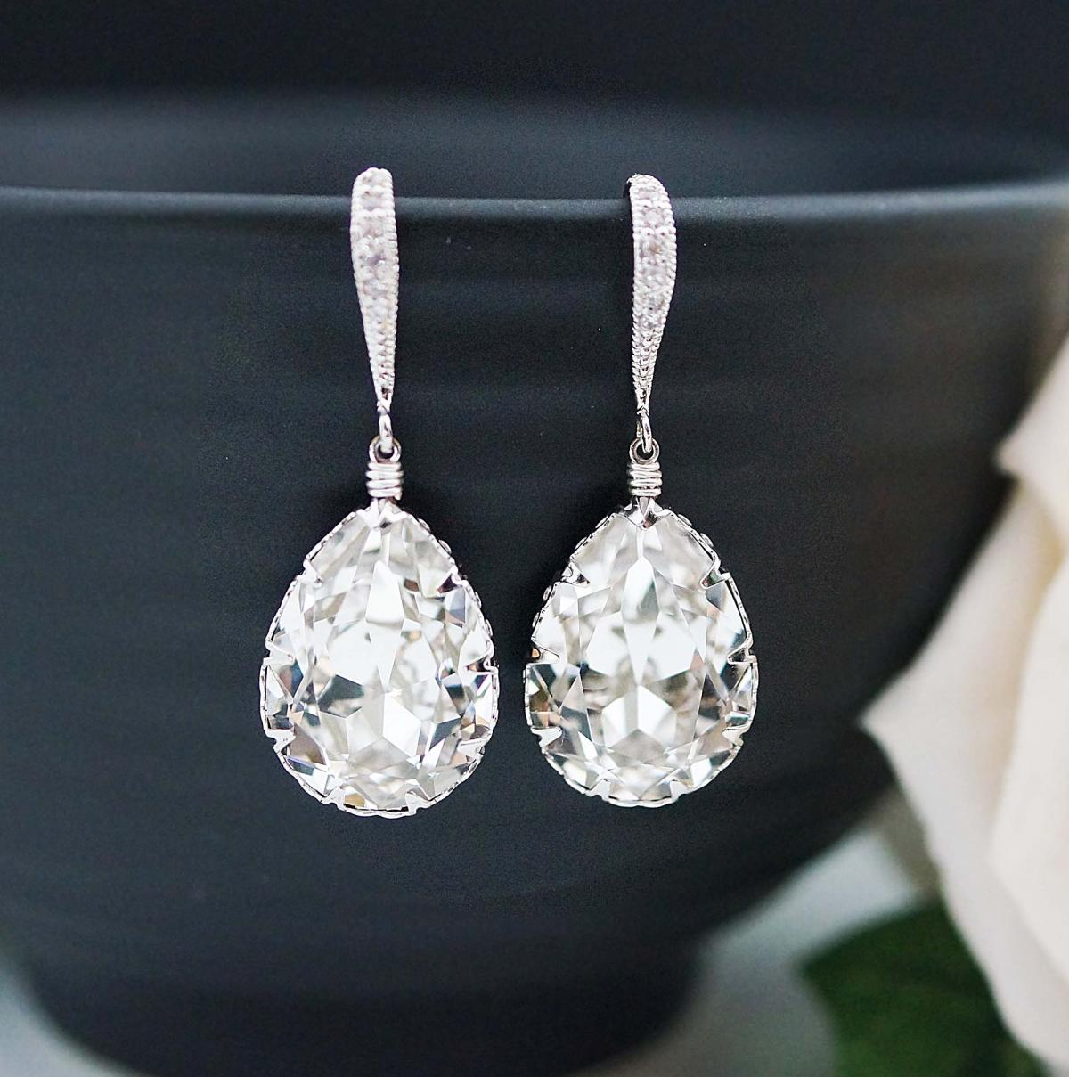 Bridal jewelry earrings : Wedding jewelry bridal earrings bridesmaid dangle